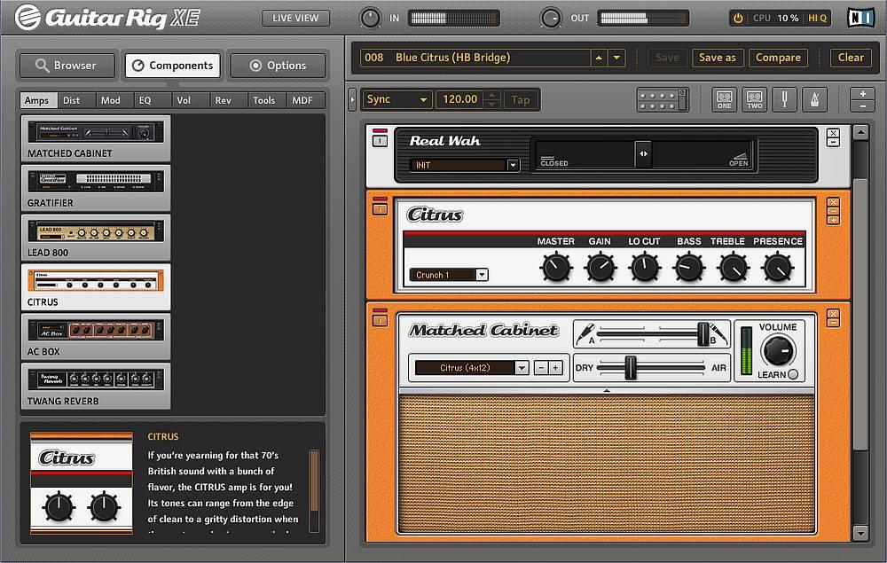 Скачать/Downloads Guitar Rig - программа для записи гитары с.